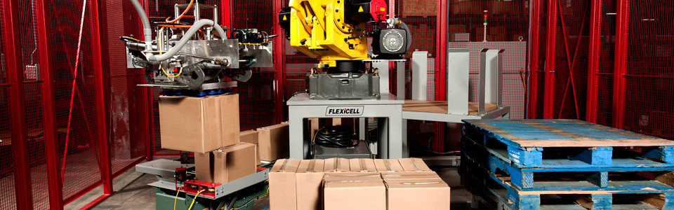 Flexicell is a palletizer manufacturer and robotic integrator, providing automated palletizing systems. By using proven technology for palletization, you gain these benefits: